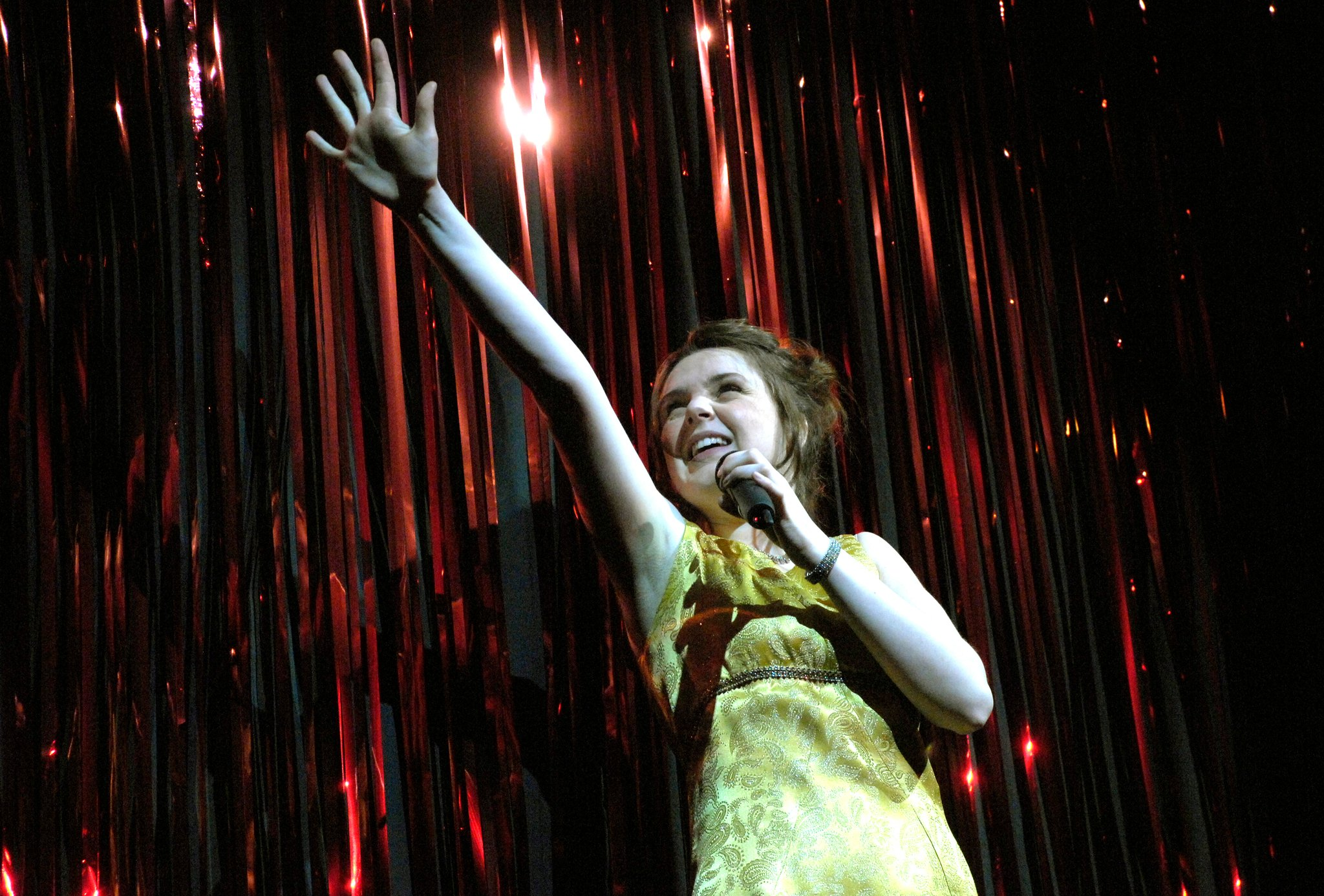 Rebecca Hutchinson in Little Voice in The Rise and Fall of Little Voice