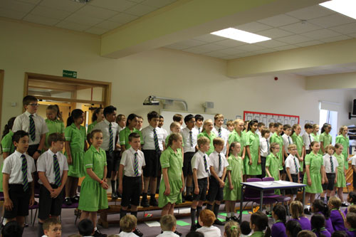 All of year 6 assembly