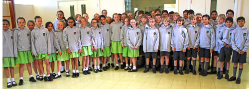 All year 6 in their hoodies