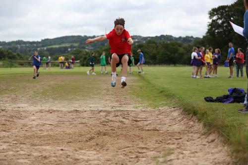 Boy long jump