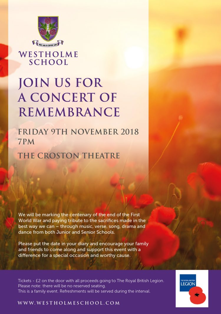 Concert of Remembrance - Westholme School