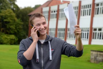 Westholme School A-Level results day - Ben Tinniswood