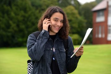 Westholme School, Blackburn GCSE Results Day - Rebecca Burke