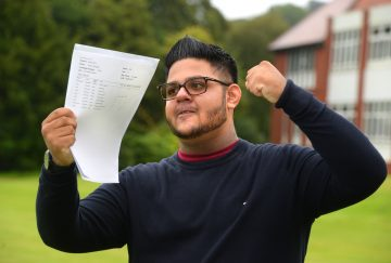 Westholme School, Blackburn GCSE Results Day - Yusuf Mumtaz