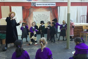 Westholme pupils perform at a Victorian Christmas experience at Queen Street Mill in Burnley