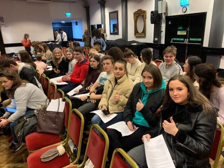 Westholme students attend an ancient history lecture at an arts centre in Camden