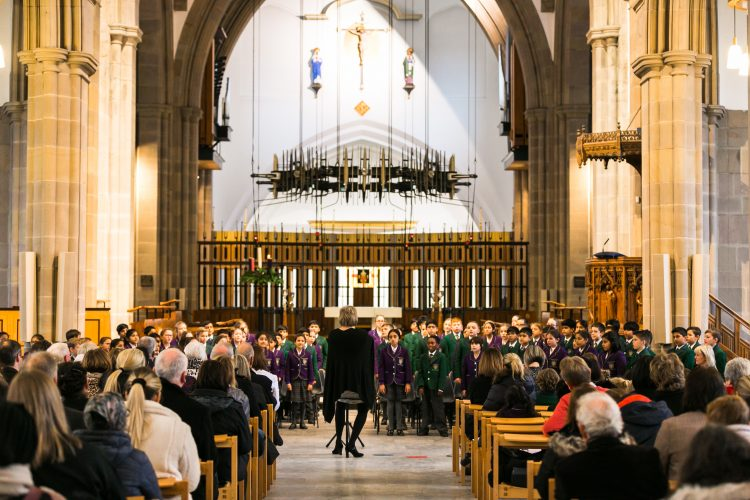 Westholme junior school choir performs at carol service in Blackburn Cathedral