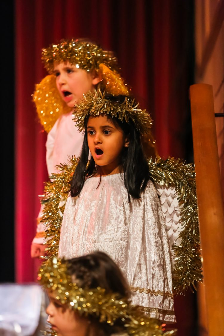 Pupils dressed as angels perform at the Westholme Nursery and Infant school nativity play