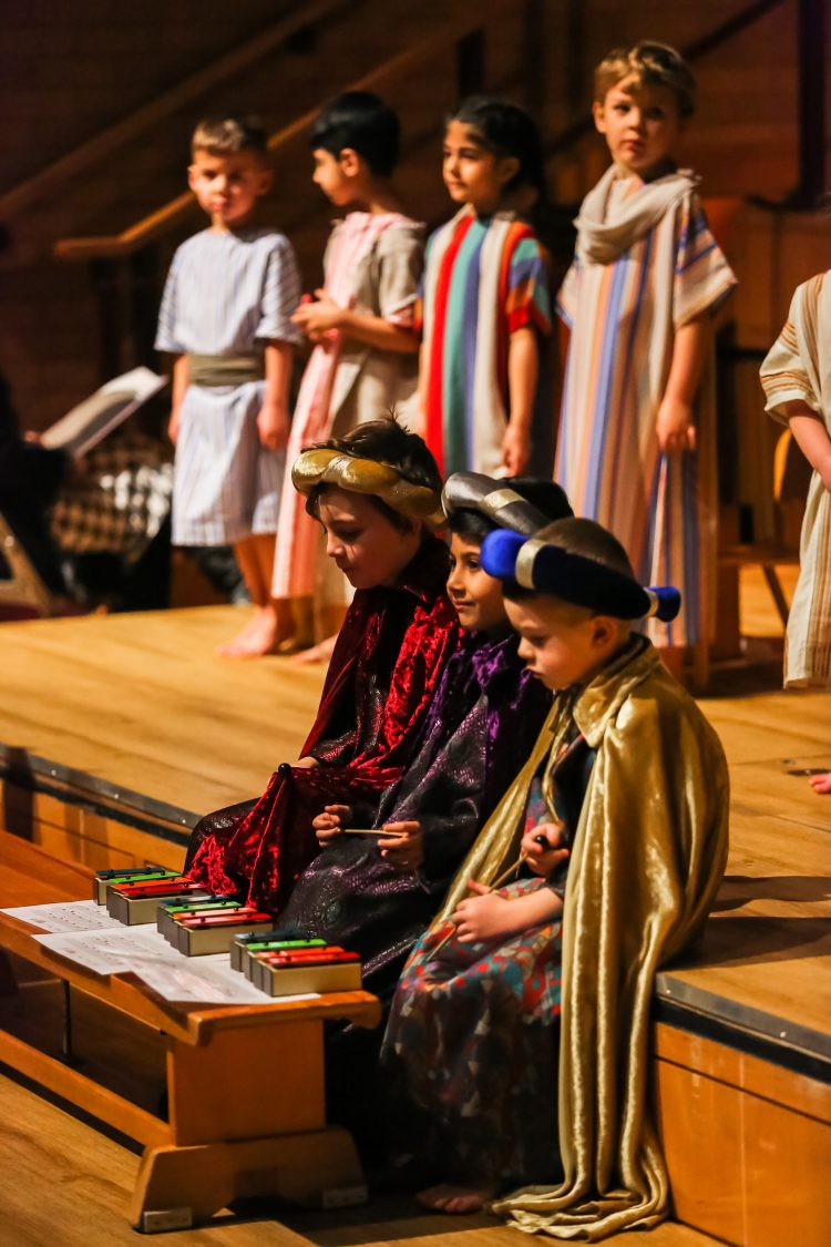 Pupils perform on stage at the Westholme Nursery and Infant school nativity play