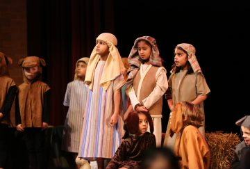 Pupils dressed as shepherds perform at the Westholme Nursery and Infant school nativity play